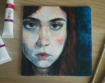 Custom personalized portrait acrylic painting