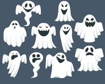 Ghost clip art, Ghost clipart, Halloween clipart, Halloween Clipart, Cute Ghost Clipart, Ghost Graphics