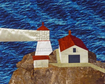 Point Reyes, CA Lighthouse quilt pattern