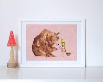 Girl & Bear - Picnic