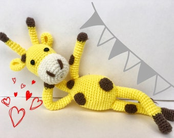 Crochet amigurumi giraffe perfect gift nursery decor