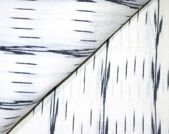White and Black Ikat Fabric