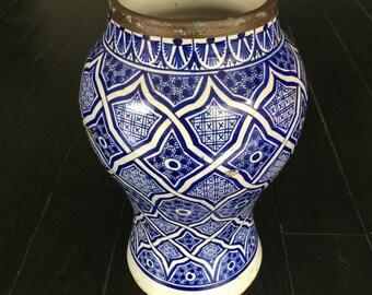 Vase en céramique d'origine marocaine (Fès)