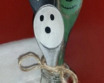 Hand Painted Halloween Wooden Spoons
