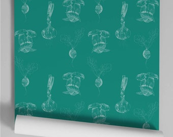 Wallpaper green slate Bob