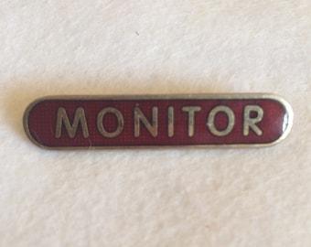 Vintage Monitor School Pin