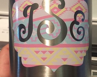 Decal for tumbler or cup