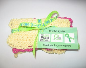 SUPPORT A GOOD CAUSE ! - Hand Made Crochet Tea Towels