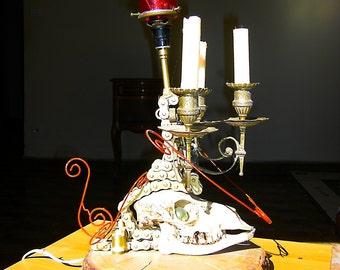 "Sculpture metal ""Gothic candlestick"""