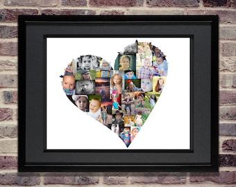 heart photo collage heart svg heart shaped collage heart wall art heart