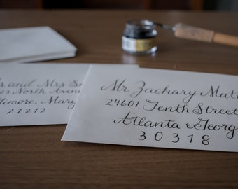 Custom Wedding Calligraphy - Envelopes