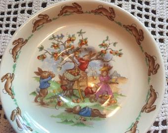 Bunnykins porcelain saucer