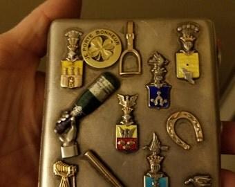 gold and silver antique ciggerrett case