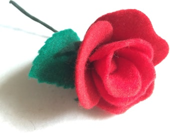 Rose & Leaf Boutonnière / Hair Accessory