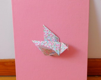 Table-origami bird pink