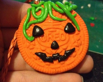 Oreo Halloween pumpkin Necklace