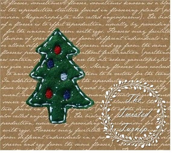 In The Hoop Cute Chrsitmas Tree Embroidery Design Designs File Feltie Felt Instant Download 4x4 Hoop