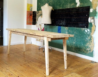 Retro Midcentury dining table from timber.