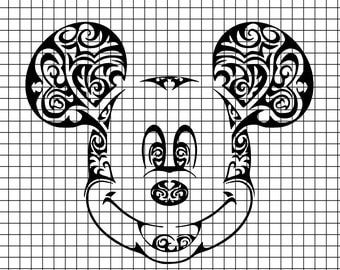 Mickey Head Intricate design SVG/DXF/download for Cricut and Silhouette