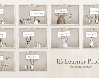 IB Learner Profile - Classroom Posters (printable download)