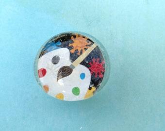 Glass Magnet-Painting Magnet-School Magnet-Neodymium Magnet-Round Glass Magnet-Refrigerator Magnet-Locker Magnet-Jumbo Magnet