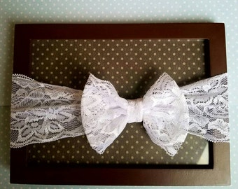 White lace 3 month - toddler headband