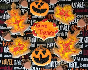 Thanksgiving / Fall cookie assortment (MINIMUM QUANTITY 12)