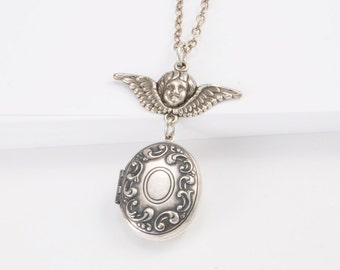Angel Oval Locket