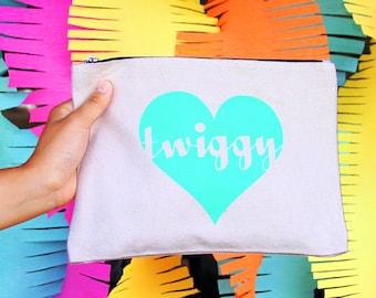 Twiggy - Twiggy Heart Zipper Pouch