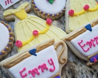 Princess Belle inspired cookies