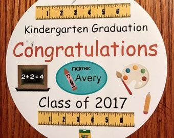 Precut Kindergarten Graduation Cake Topper- available for cupcakes and cookies also
