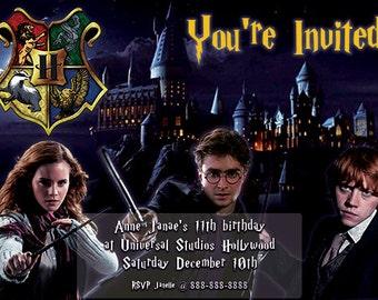 Harry Potter Birthday Invitation - Customized Digital Download