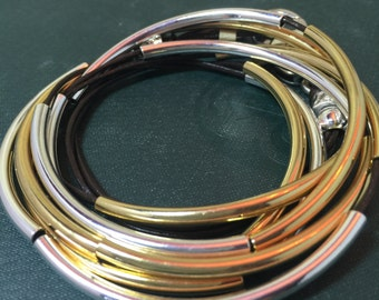 Silver and Gold Wrap Bracelet & Necklace