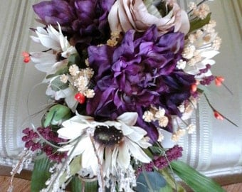Cascading Fall bridal bouquet