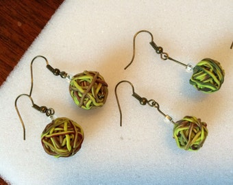 Yarn Lovers Unite for our Ball of Yarn Earrings! Perfect for the knitter or crocheter in the family! Great for gifts and birthday ideas!