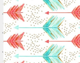Pink Arrows Crib Sheet. Fitted Crib Sheet. Baby Bedding. Crib Bedding. Minky Crib Sheet. Crib Sheets. Arrows. Mint. Gold.