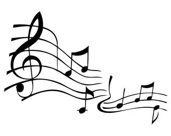 Music Staff Vinyl Decal