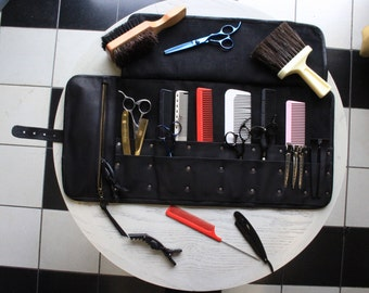 Leather Barber Tool roll