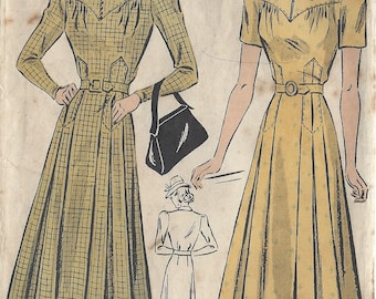 "1940s Vintage Sewing Pattern DRESS B38"" (206) By Du Barry 2390B"