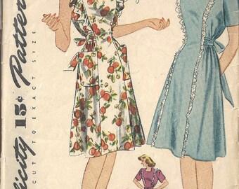 "1941 WW11 Vintage Sewing Pattern B29"" MATERNITY DRESS & PINAFORE (1741) Simplicity  4635"