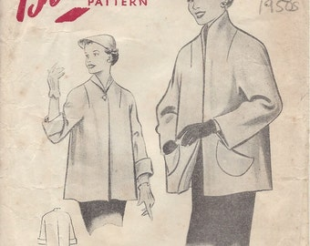 "1950s Vintage Sewing Pattern JACKET B36"" (205) Blackmore 8612"