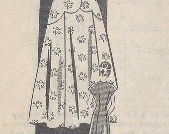 "1940s Vintage Sewing Pattern DRESS B34"" (236)"