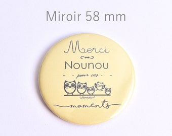 Thank you Pocket mirror 58 mm yellow nanny