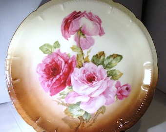 Vintage   ZS Bavaria  Large round  Platter Hand painted