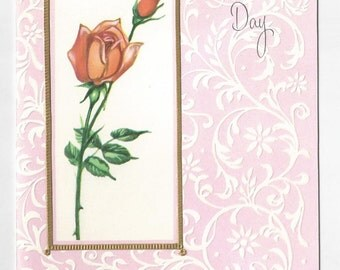 """1970s Lovely Vintage Mothers Day Card """"To My Wife on Mothers Day"""""""