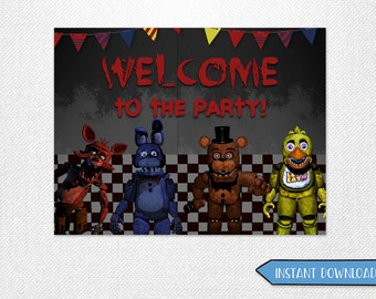 Five Nights at Freddy's welcome poster, Five Nights at Freddy's welcome, Five Nights at Freddy's poster, FNAF welcome poster!