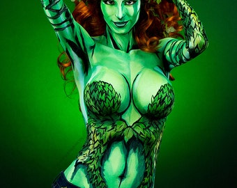 Poison Ivy Bodypaint 8.5x11 Print