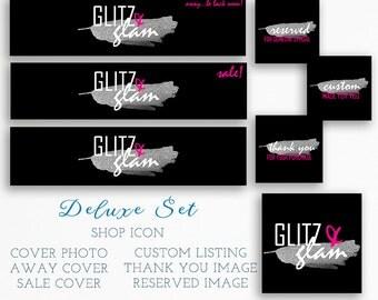 Modern Etsy Branding - Etsy Shop Design - Premade Etsy Banner - Etsy Package - Etsy Shop Set - Feminine Logo - Etsy Graphic Set - Shop Icon