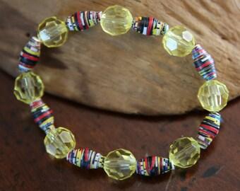 Honey Gold Paper Bead Bralet