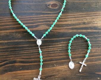 Green Aventurine Rosary Chaplet Set